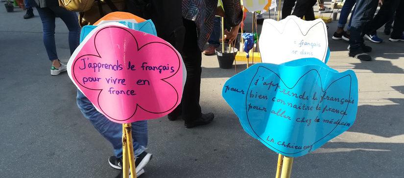 Français pour tous le relais 59 se mobilise avec les centres sociaux de paris